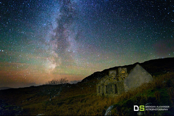 West Donegal Cottage and the Milky Way