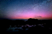 Aurora and Milky Way Glow Over Cruit Island