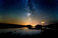 The Milky Way over Lough Mouran