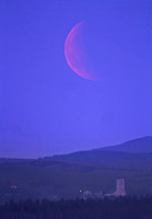 Eclipsed Moon Rise