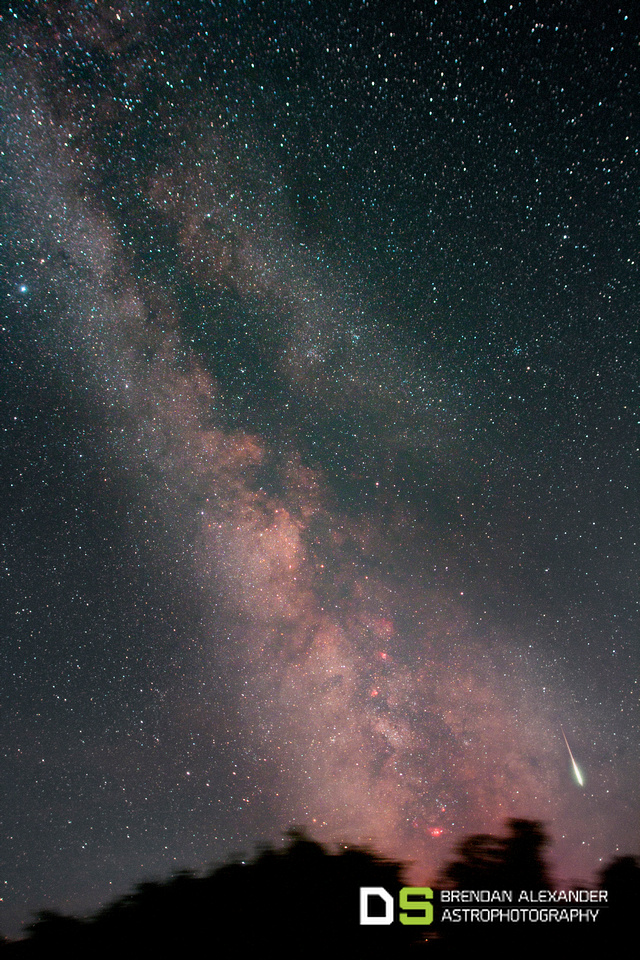Perseids Fireball in the Milky Way