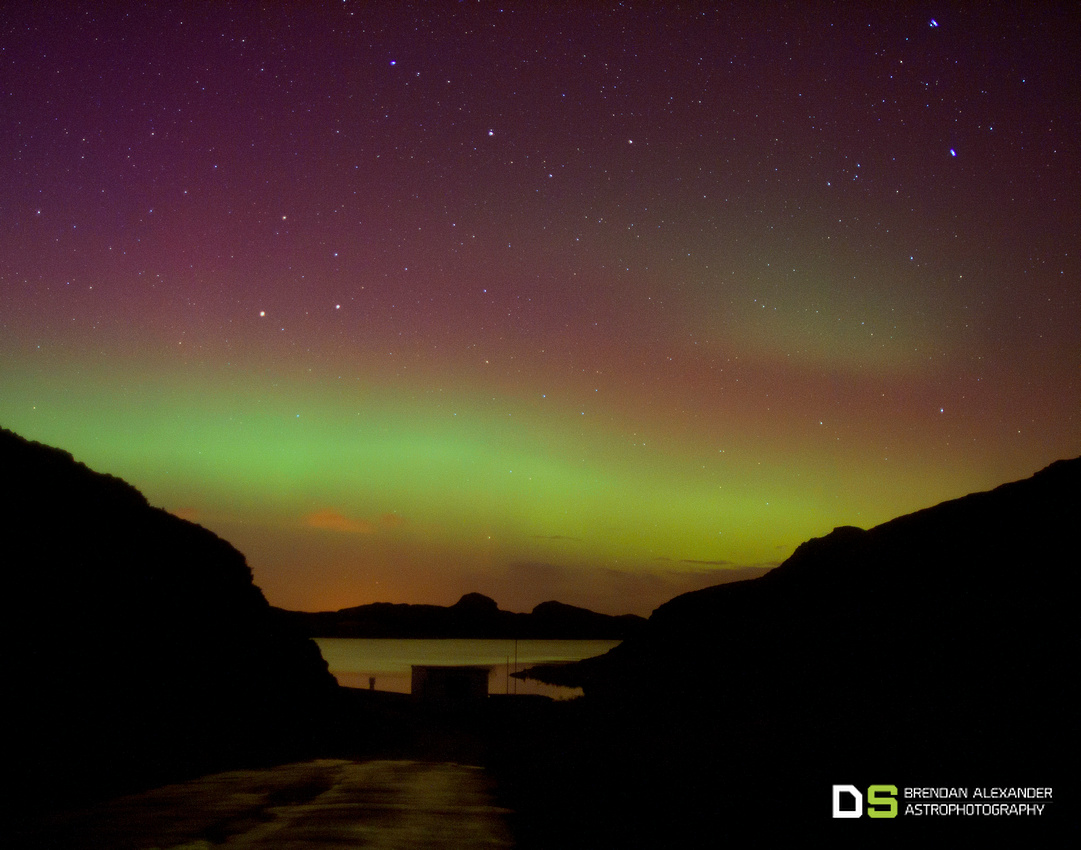 Aurora Over Lough Salt