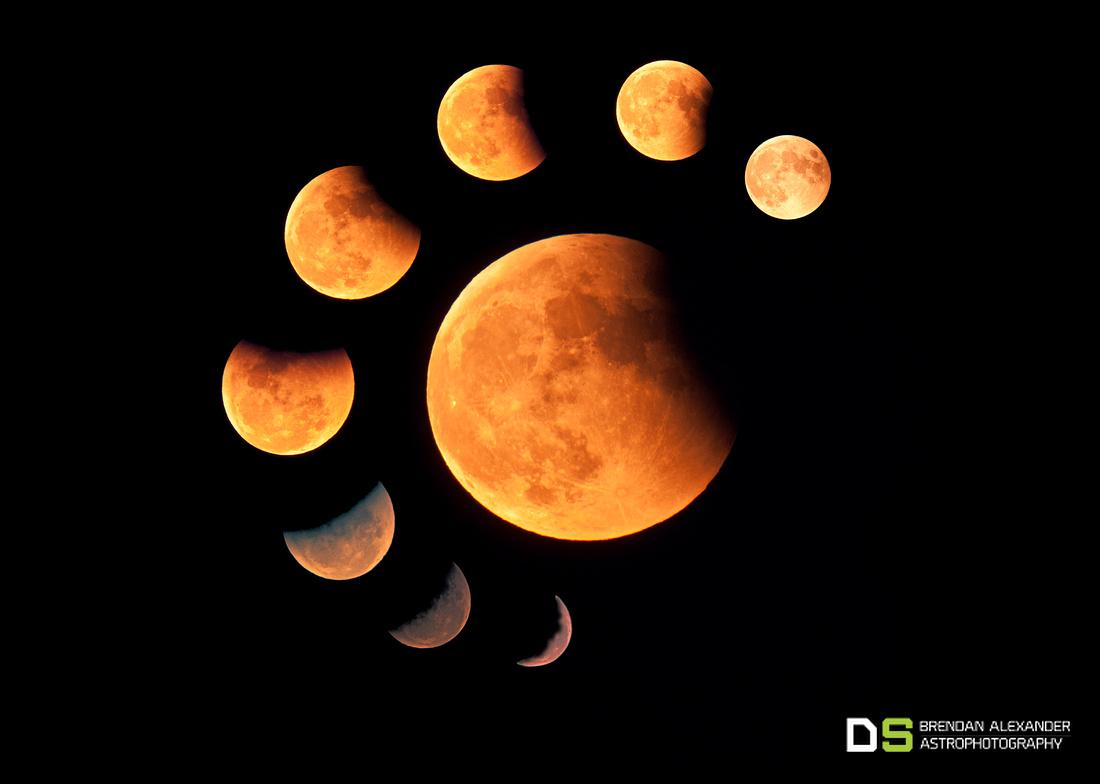 Total Lunar Eclipse Unfolds