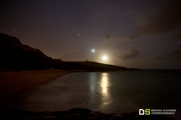 Moonset Conjunction over Maghery, Co. Donegal
